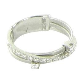 Marco Bicego Goa 18K White Gold with Diamond Ring Size 7