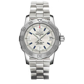 Breitling Colt A7738711/G7441/158A Stainless Steel Silver Dial Quartz 33mm Mens Watch