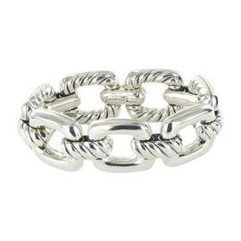David Yurman 925 Sterling Silver Cable Link Bracelet