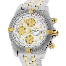 Breitling Chronomat Evolution B1335611 / A574-372D Two-Tone 18K Yellow Gold / Stainless Steel Automatic 44mm Watch