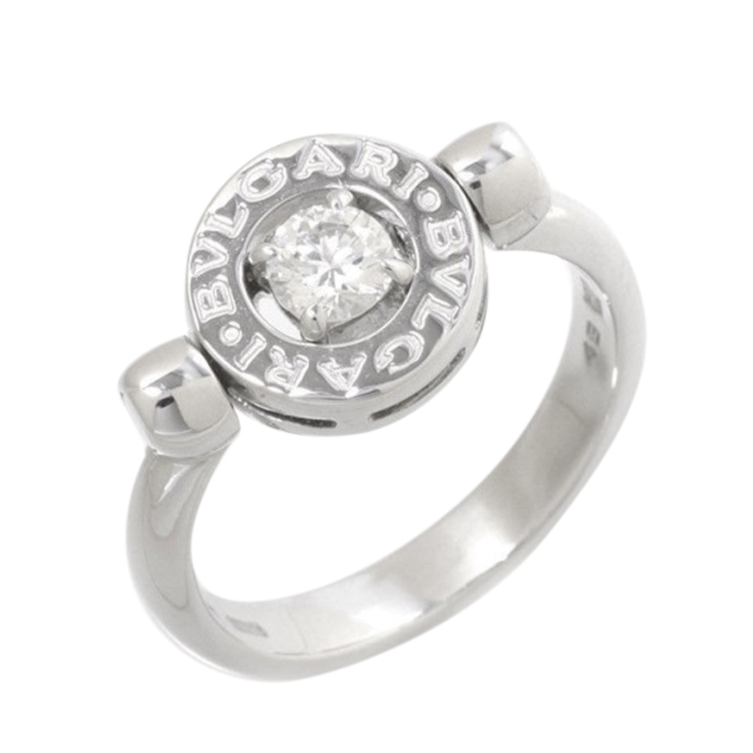 "Image of ""Bulgari 18K White Gold & 0.25ct Diamond Ring Size 5"""