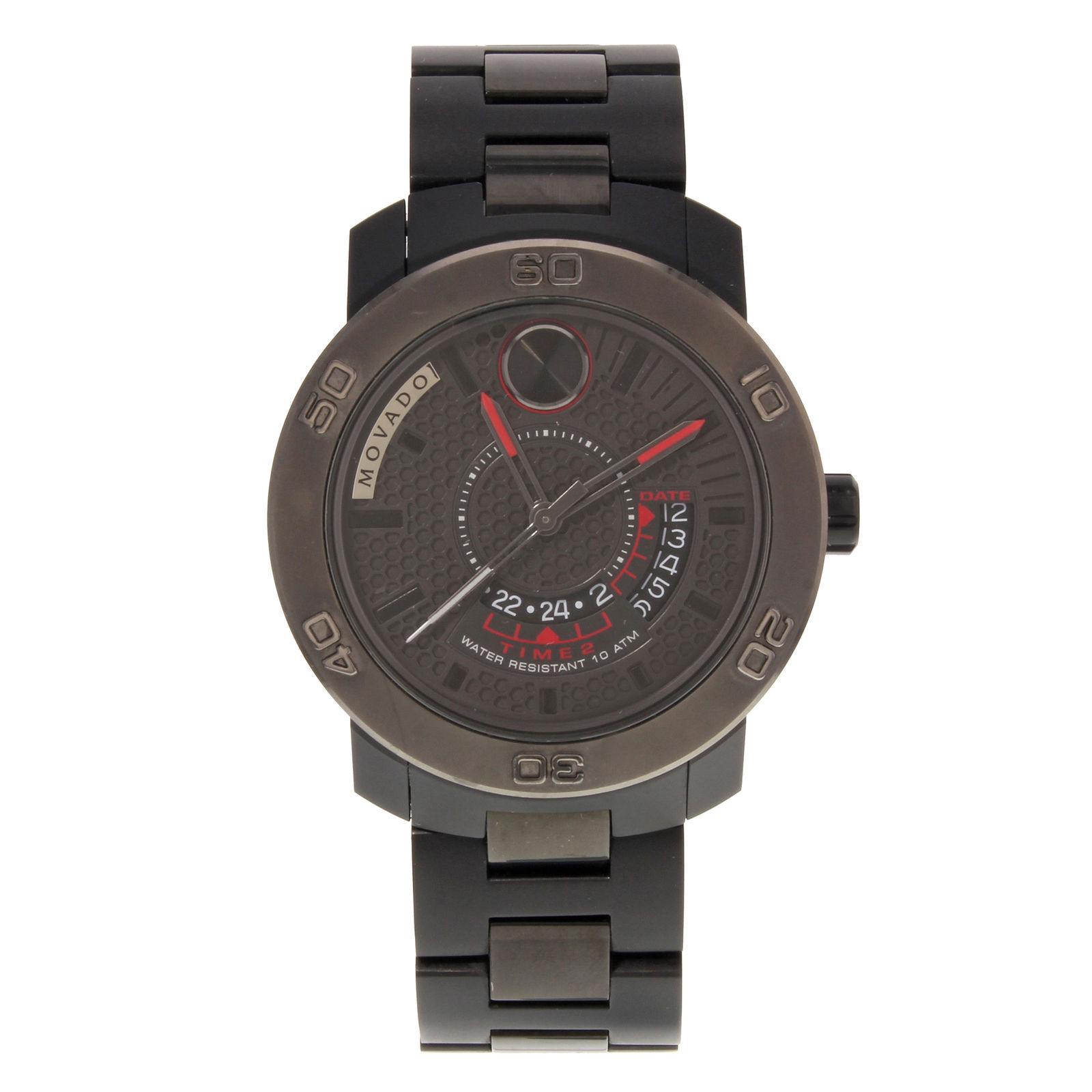 """Image of """"Movado Bold 3600384 Stainless Steel Black Ion-Plated Quartz 43mm Mens"""""""