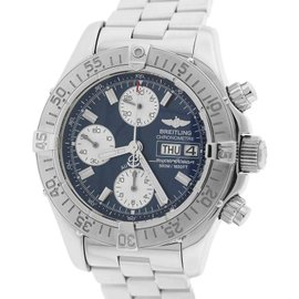 Breitling Superocean A13340 Stainless Steel Blue Dial Automatic 42mm Mens Watch