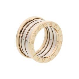 Bulgari 18K Yellow Gold & White Gold B.Zero1 Ring Size 5