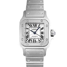 Cartier Santos W20056D6 Stainless Steel White Dial Automatic 35mm Womens Watch