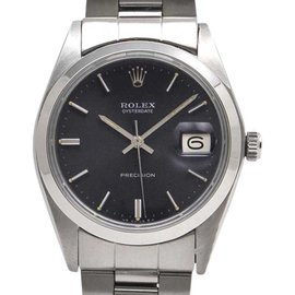 Rolex Oyster Date 6694 Stainless Steel Manual 34mm Mens Watch