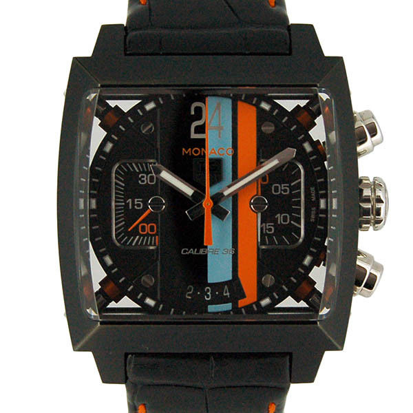 """Image of """"Tag Heuer Monaco24 Cal5110.fc6265 PVD Coated Stainless Steel & Leather"""""""