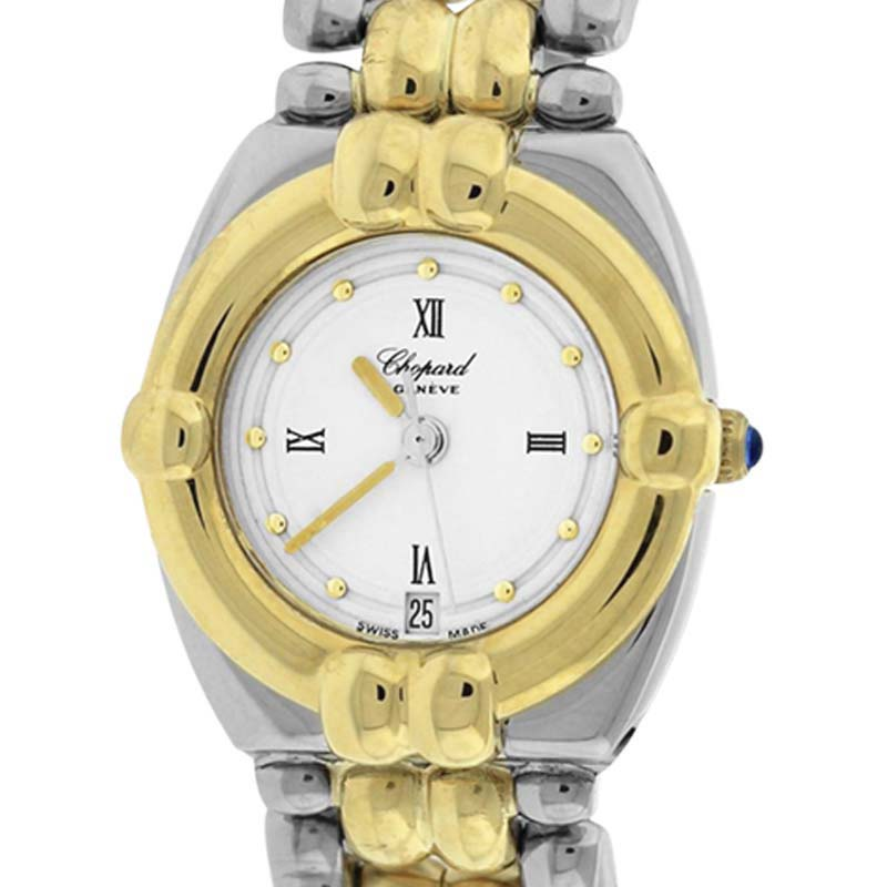 """Image of """"Chopard Gstaad 32/8117 18K Yellow Gold & Stainless Steel White Dial"""""""