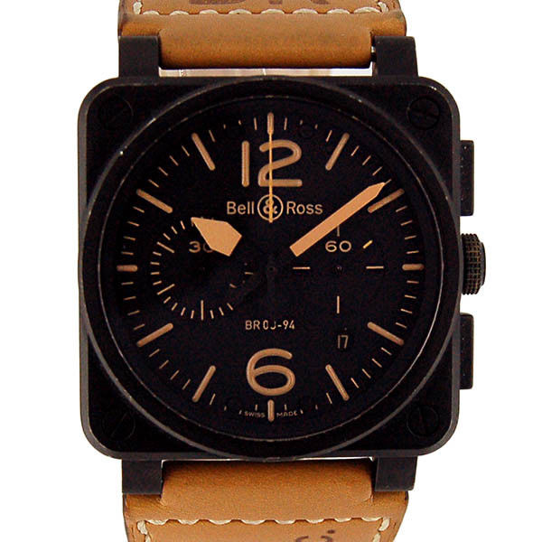 "Image of ""Bell & Ross Br03-94 Heritage PVD Coated Stainless Steel & Leather"""
