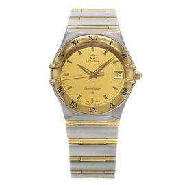 Omega Constellation 1212.10.00 Stainless Steel & 18K Yellow Gold Quartz 33mm Mens Watch