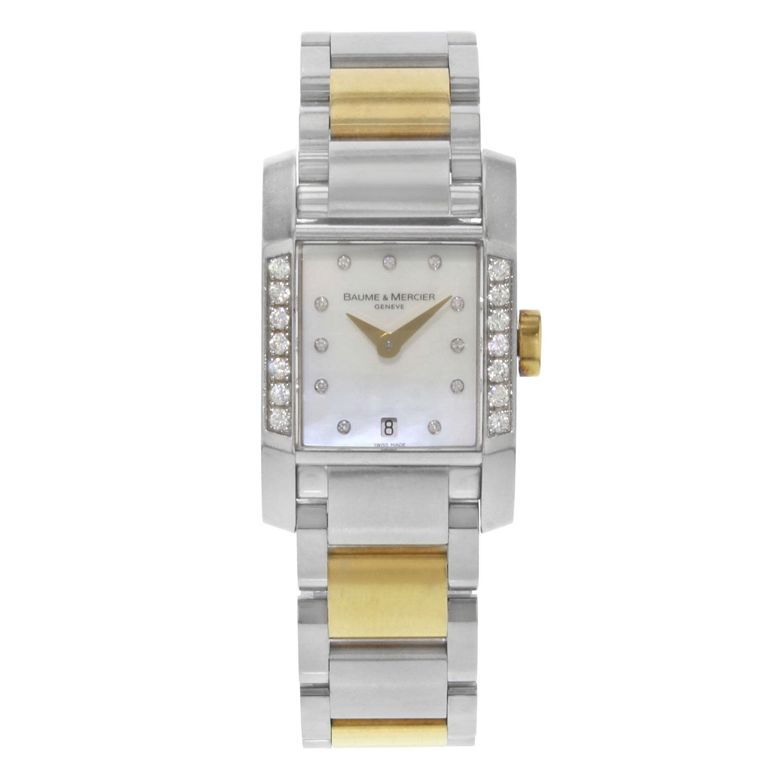 """Image of """"Baume & Mercier Diamant Moa08599 Stainless Steel & Gold Plated Quartz"""""""