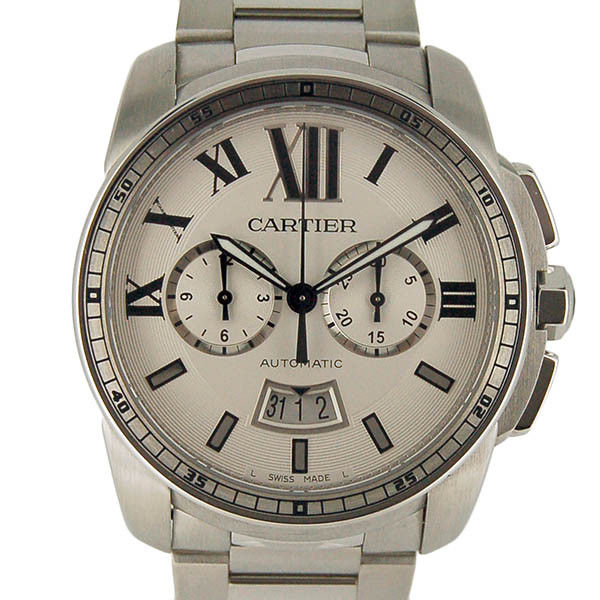 """Image of """"Cartier Caribri De W7100045 Stainless Steel Silver Dial Automatic 42mm"""""""