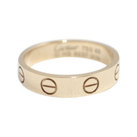 Cartier Mini Love 18k Rose Gold Ring Size 4.5