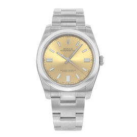 Rolex Oyster Perpetual 116000 WGIO Stainless Steel Automatic 36mm Mens Watch