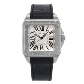 Cartier Santos W20073X8 Stainless Steel & Leather Automatic 39mm Mens Watch