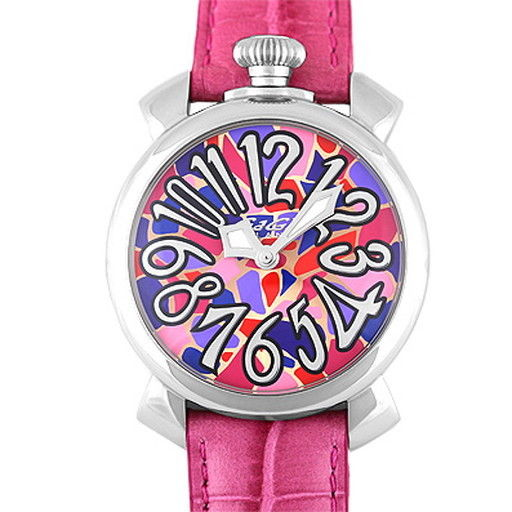 "Image of ""Gaga Milano Manuare 5020.m0S.02 Stainless Steel & Leather Quartz 40mm"""