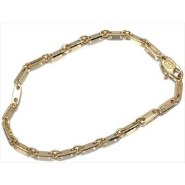 Cartier Figaro 18k Yellow Gold Bracelet