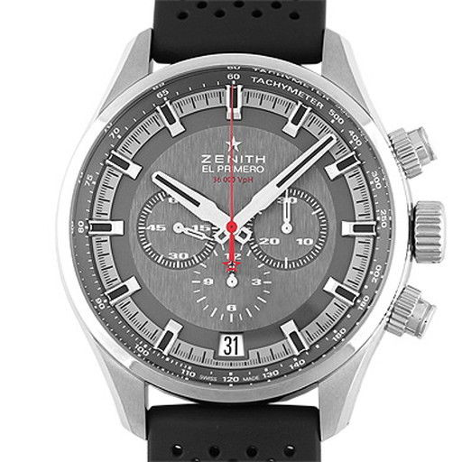 """Image of """"Zenith El Primero Sports 03.2280.400/91.r576 Stainless Steel & Rubber"""""""