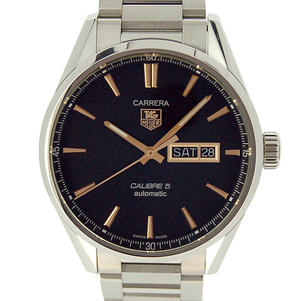 "Image of ""Tag Heuer Carrera War201C.ba0723 Stainless Steel 41mm Mens Watch"""