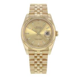 Rolex Datejust 116238 18K Yellow Gold Automatic 36mm Mens Watch