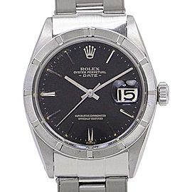 Rolex Perpetual Date 1501 Stainless Steel Black Dial Automatic 34mm Mens Watch