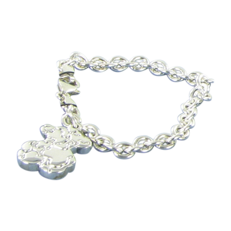 "Image of ""Tous 925 Sterling Silver Sweet Dolls Links Bear Charm Bracelet"""