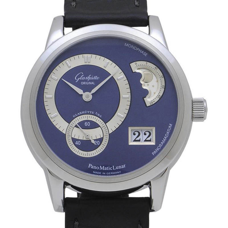 "Image of ""Glashutte Original 90-02-05-02-04 Stainless Steel & Leather Automatic"""