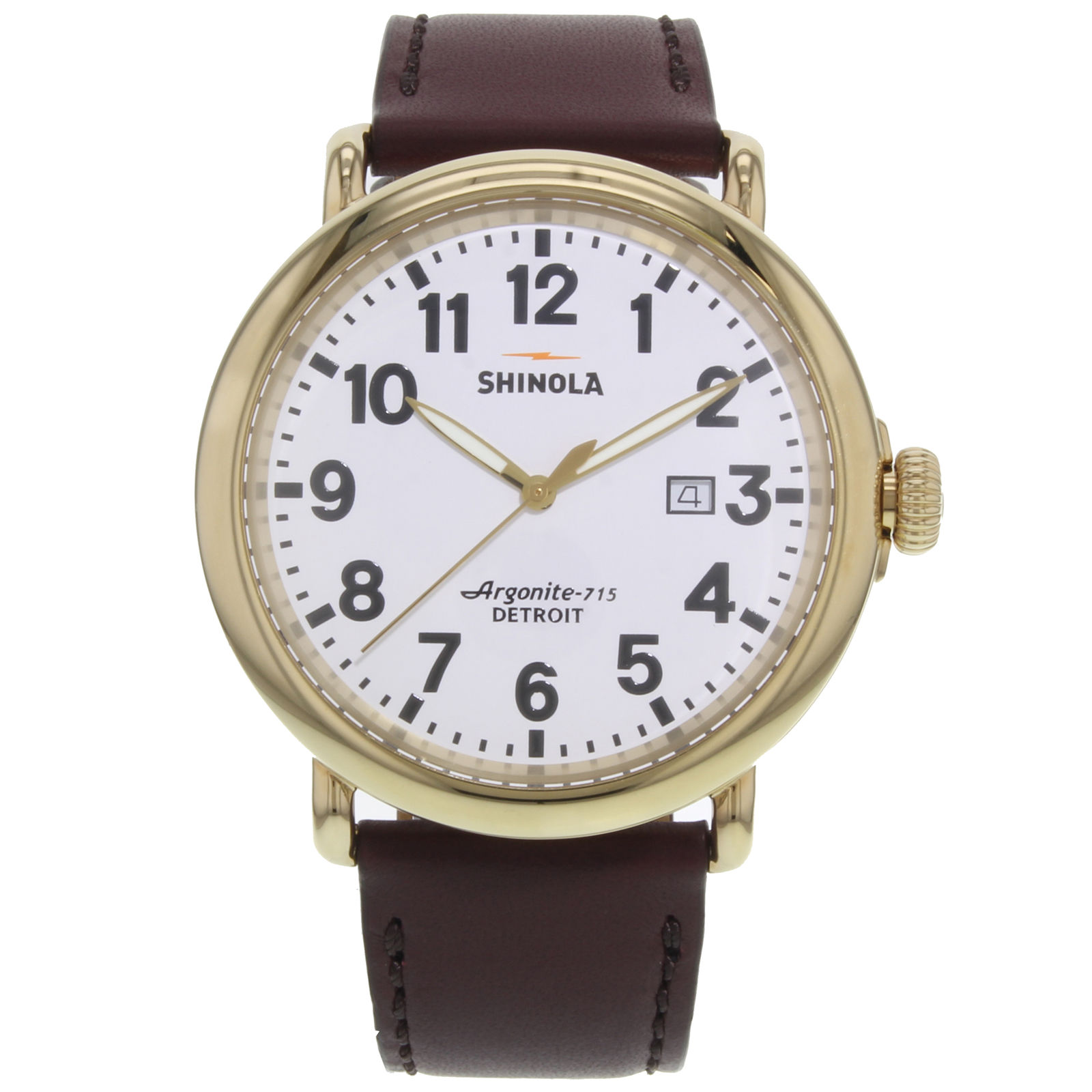 "Image of ""Shinola Runwell S0120001118 Gold Tone Stainless Steel Quartz 47mm Mens"""
