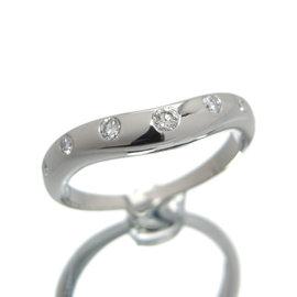 Bulgari Corona PT900 Platinum with 7P Diamond Ring Size 4.75