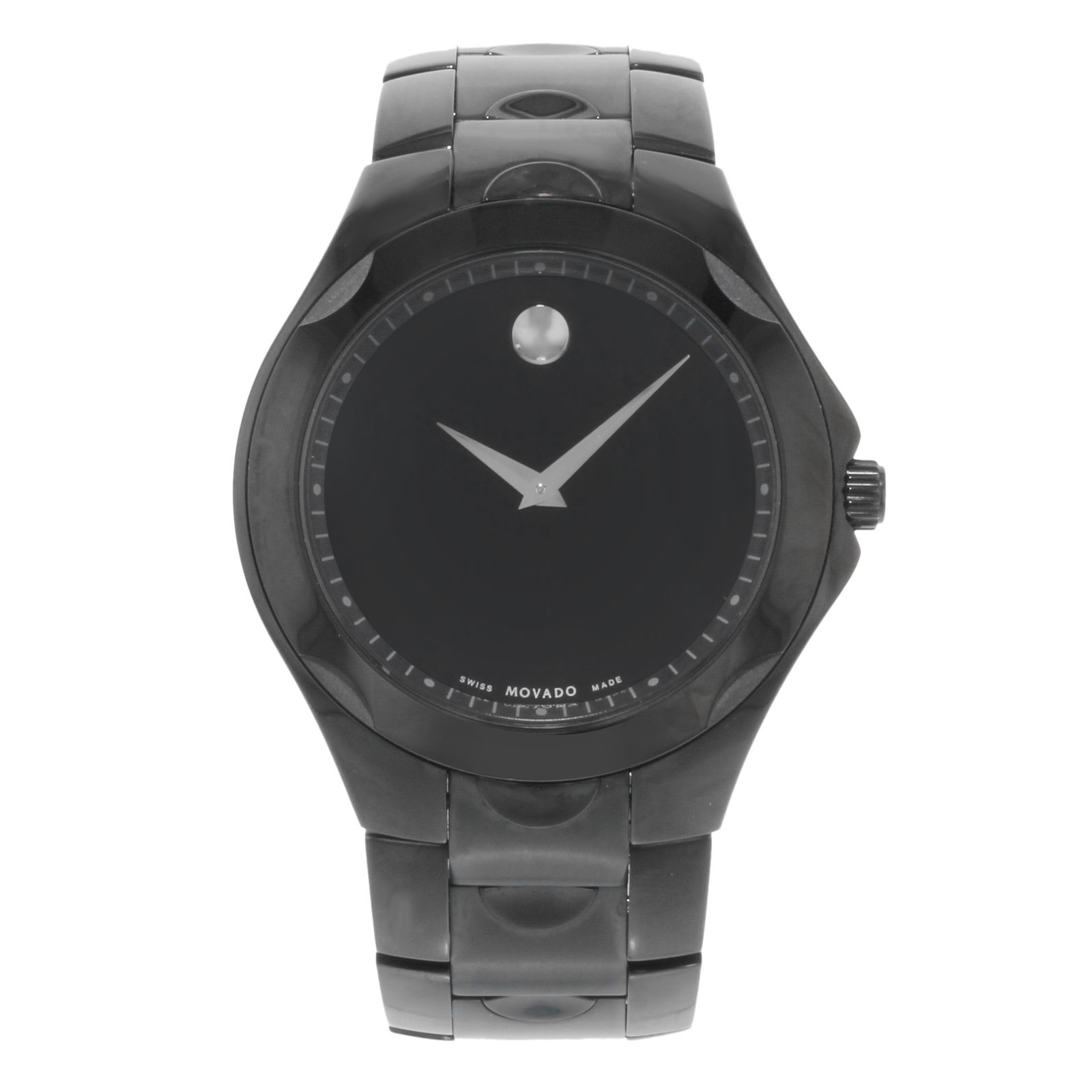 """Image of """"Movado Luno 0606536 PVD Coated Stainless Steel Quartz 40mm Mens Watch"""""""