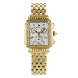 Michele Deco MW06P01B0046 Gold Plated Stainless Steel with Diamond Quartz 33mm Womens Watch