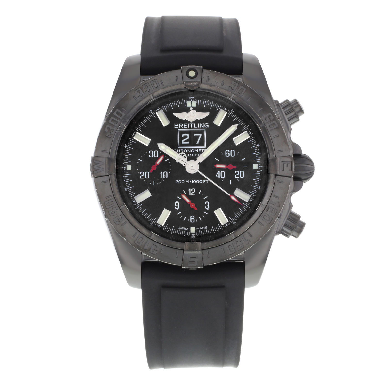 """Image of """"Breitling Blackbird M44359 Stainless Steel / Rubber Automatic 43mm"""""""