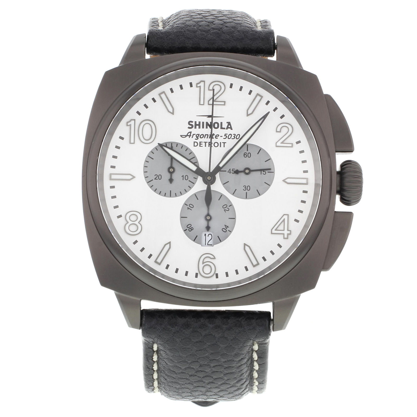 "Image of ""Shinola The Brakeman S10000188 Stainless Steel Quartz 46mm Mens Watch"""