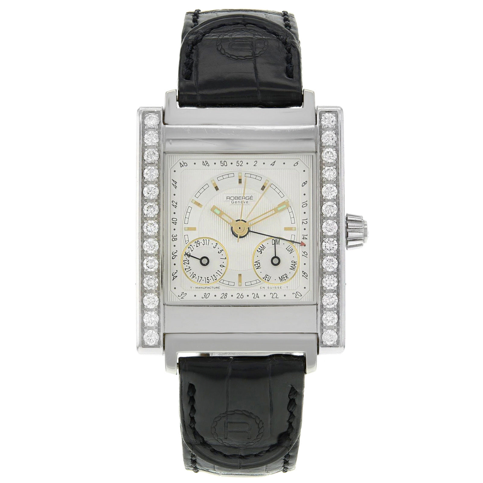 "Image of ""Roberge Pegase Acier 316L Stainless Steel Diamonds Automatic 32mm Mens"""