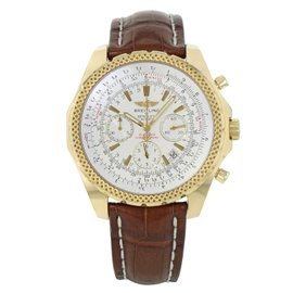 Breitling Bentley Motors K25362 18K Yellow Gold & Leather Automatic 49mm Men's Watch