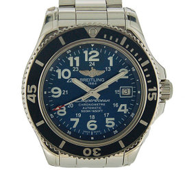Breitling SuperOcean A182C15P Stainless Steel Blue Dial Automatic 42mm Mens Watch