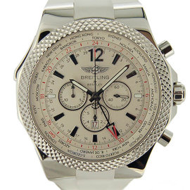 Breitling Chronomat A 476 G 57 GRC Stainless Steel & Rubber Silver Dial Automatic 49mm Mens Watch