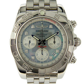 Breitling Chronomat A014G12PA Stainless Steel Gray Dial Automatic 41mm Mens Watch