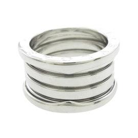 Bulgari 18K White Gold B.Zero1 4 Band Ring Size 5.5