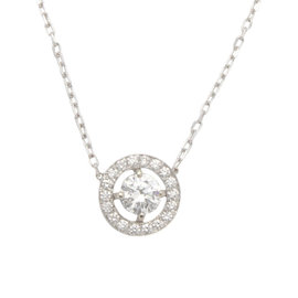 Boucheron Ava 18K White Gold Diamond Pendant Necklace