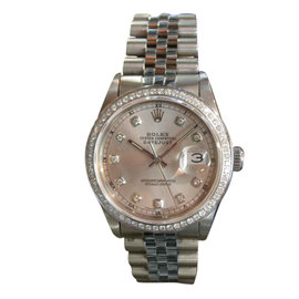 Rolex Oyster Perpetual Datejust Stainless Steel & Diamond Watch