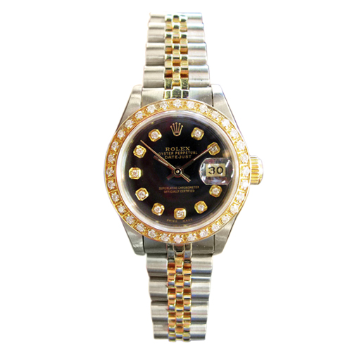 """""Rolex Datejust Yellow Gold & Stainless Steel Diamond Watch"""""" 42446"