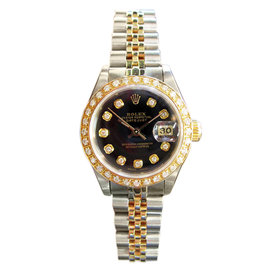 Rolex Datejust Yellow Gold & Stainless Steel Diamond Watch