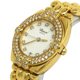 Chopard 18K Yellow Gold & Diamond Ladies Watch