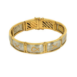 Tiffany & Co. Paloma Picasso 18K Yellow Gold & Platinum Bracelet