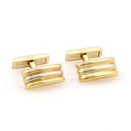Cartier 18K Tri Color Gold Trinity Cufflinks