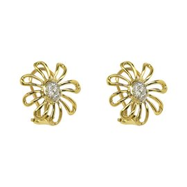 Tiffany & Co. Paloma Picasso 18K Platinum & Diamond Floral Earrings