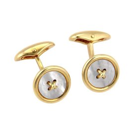 Tiffany & Co. 18K Yellow Gold Mother of Pearl Cufflinks