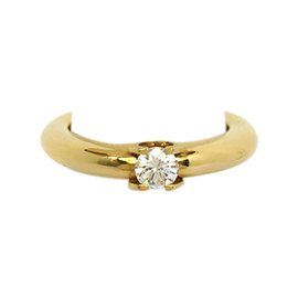 Cartier 18K Yellow Gold & Diamond Solitaire Engagement Ring