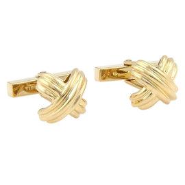 Tiffany & Co. 18K Yellow Gold Signature X Cufflinks